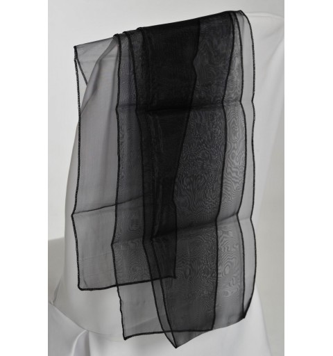 Ceinturage en Organza Noir