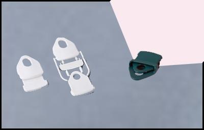 Clip de maintien pour voile en lycra