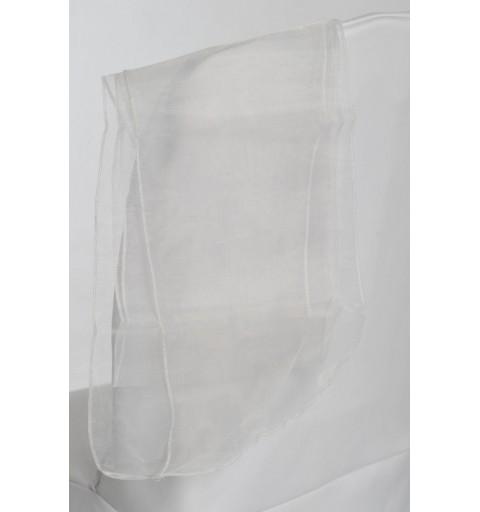 Ceinturage en Organza Blanc