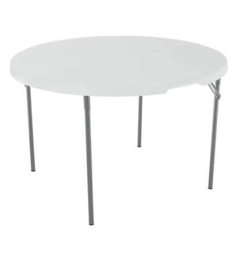 table ronde valise pieds pliants 120cm