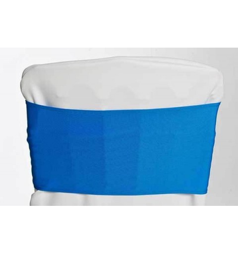 Bandeaux en lycra Bleu Saphir
