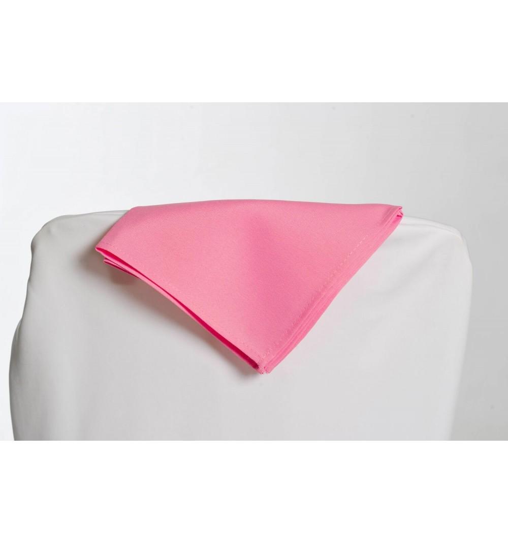 Serviette rose bonbon 100% polyester