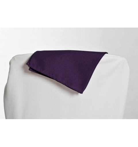 Serviette prune 100% polyester