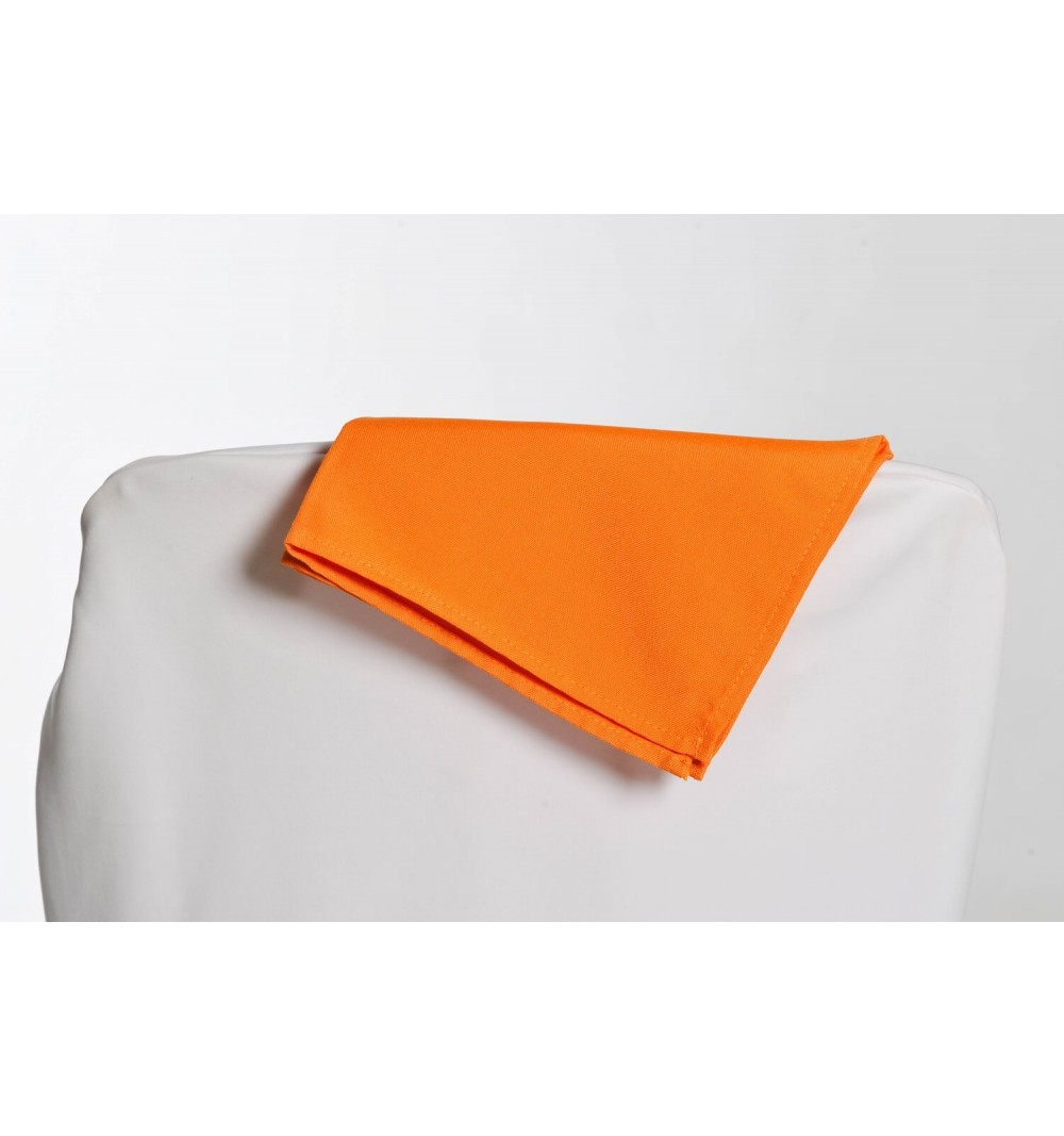 Serviette orange 100% polyester