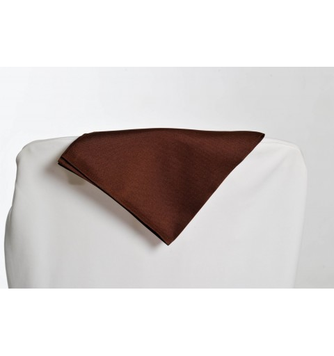 Serviette chocolat 100% polyester