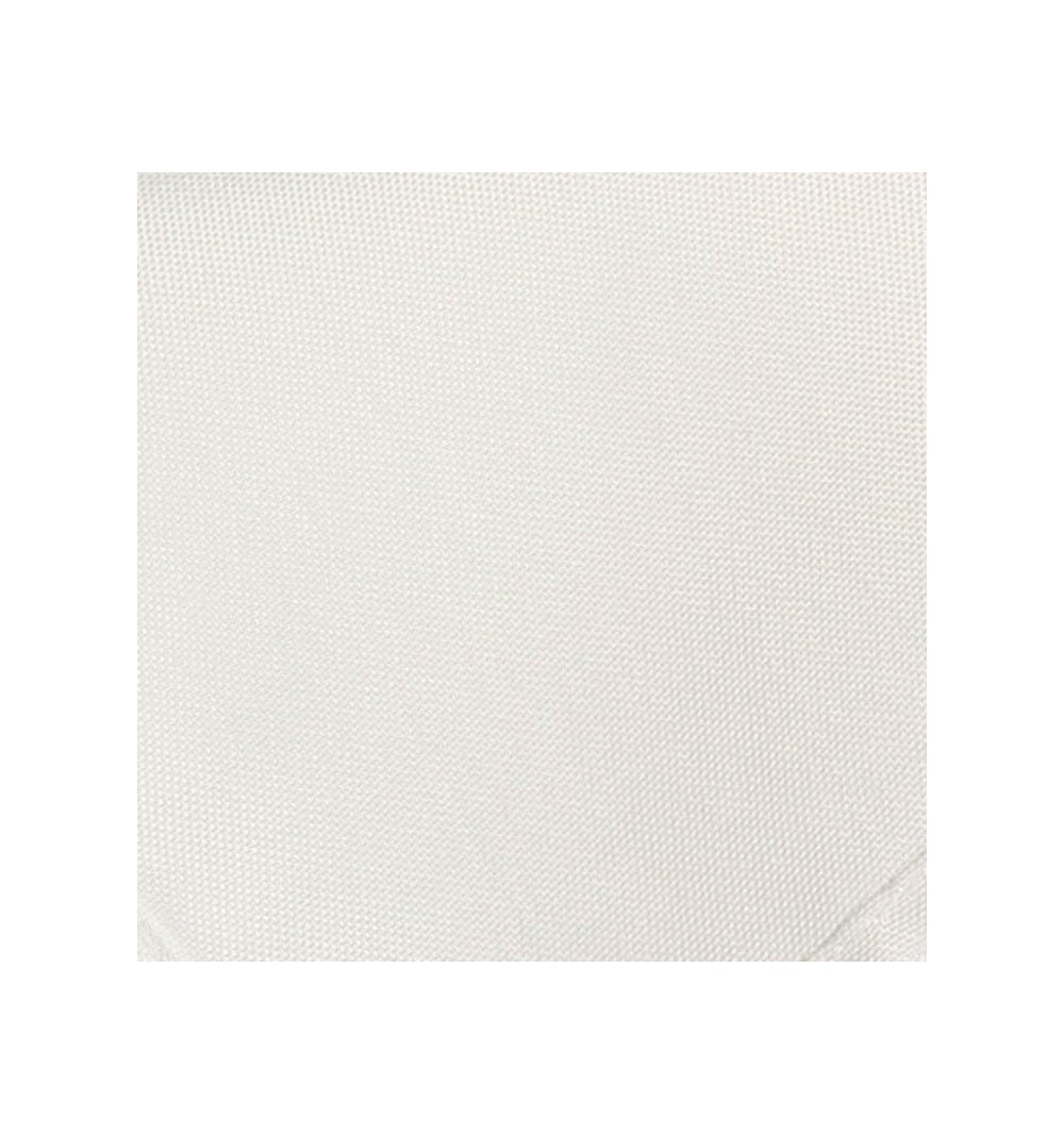 Nappe rectangulaire blanche 100% polyester