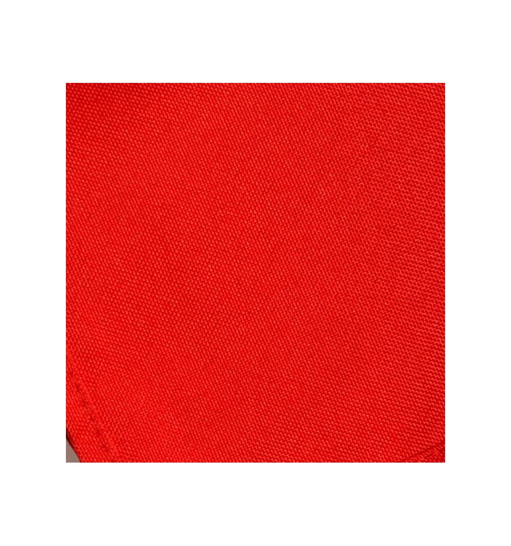 Nappe rectangulaire rouge vif 100% polyester