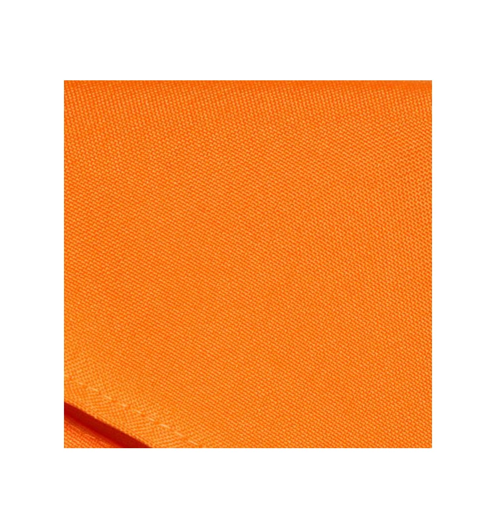 Nappe rectangulaire orange 100% polyester