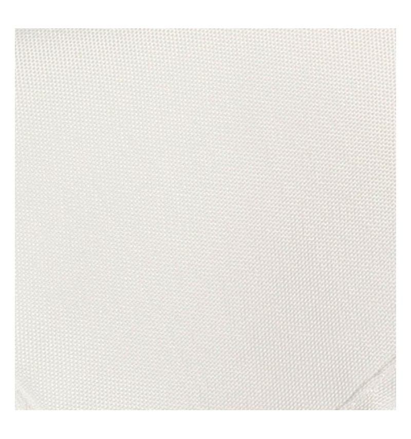 Nappe ronde blanche 100% polyester