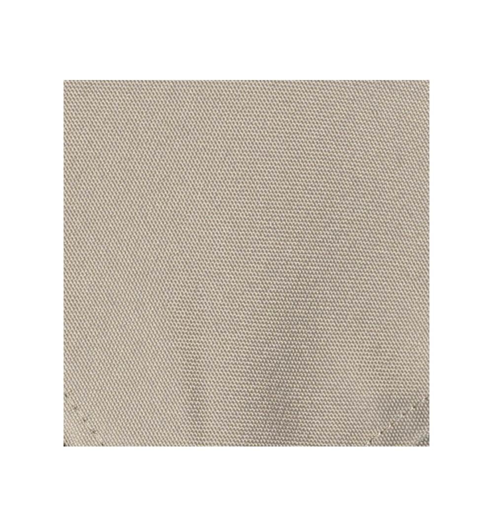 Nappe ronde gris argent 100% polyester