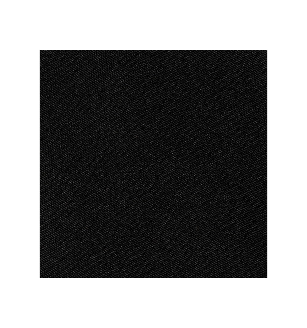 Nappe ronde noire 100% polyester