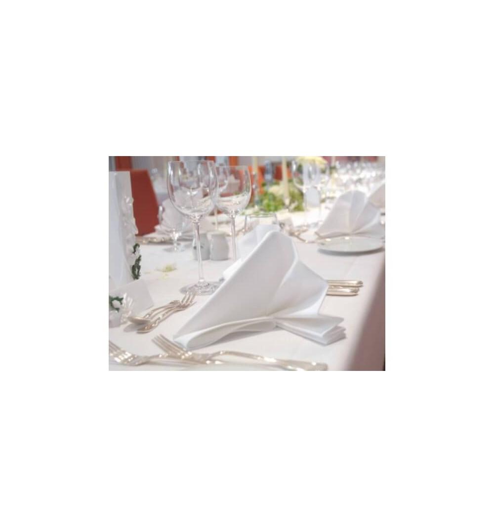 nappe blanche 100 coton pour mariage et receptions. Black Bedroom Furniture Sets. Home Design Ideas