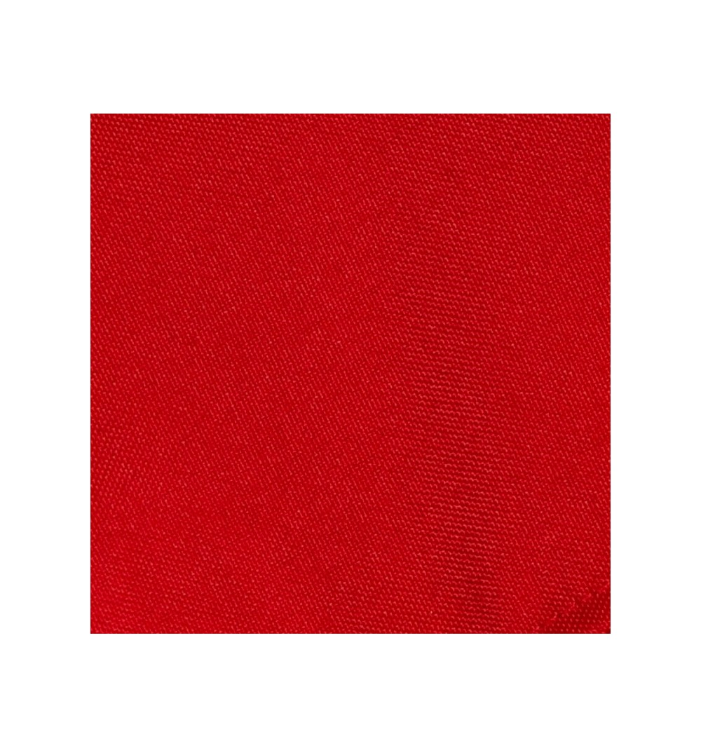 Nappe carrée rouge vif 100% polyester