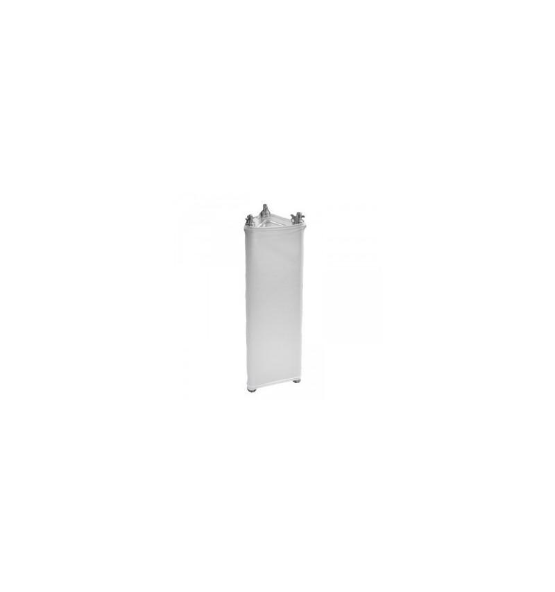 Housse lycra TRUSS triangle 29cm x 1,5m Blanche