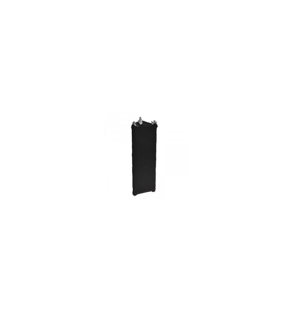 Housse lycra totem TRUSS triangulaire 29cm x 0.5m Noire