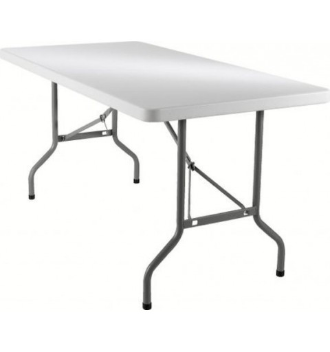 Petite table à pieds pliants 152x76cm
