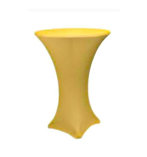 Housse mange-debout ronde 60cm 4 pieds jaune