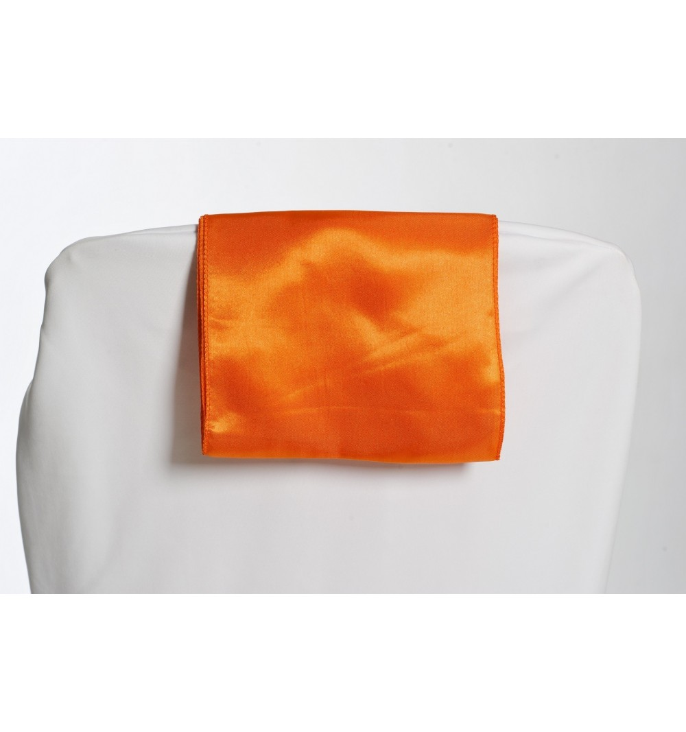 Ceinturage en Satin Orange