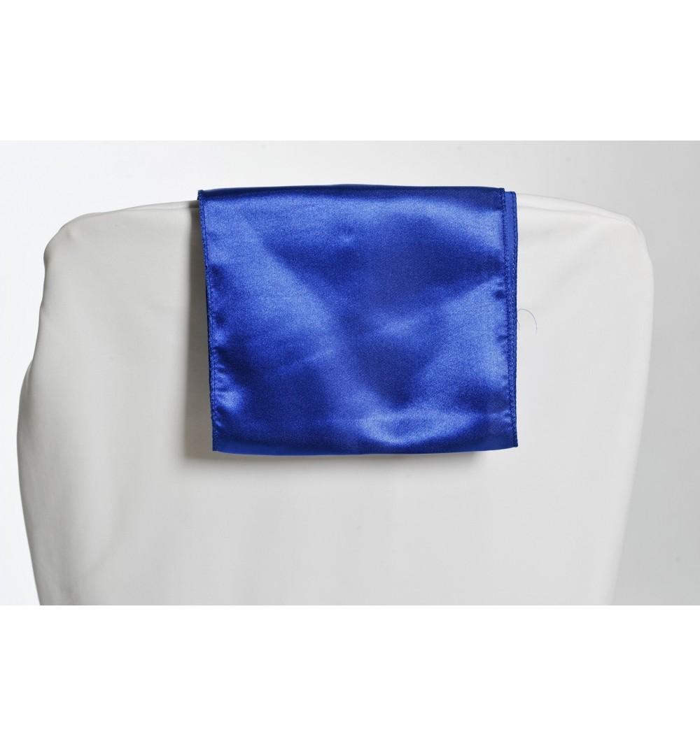 Ceinturage Flot Noeud En Satin Bleu Marine Pour Housse De Chaise