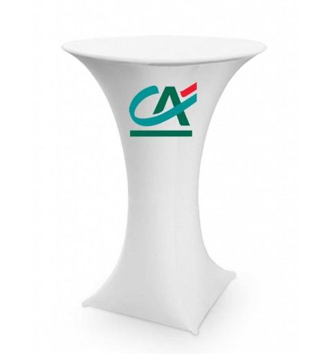 Housse de mange-debout avec logo personnalisé sur le haut