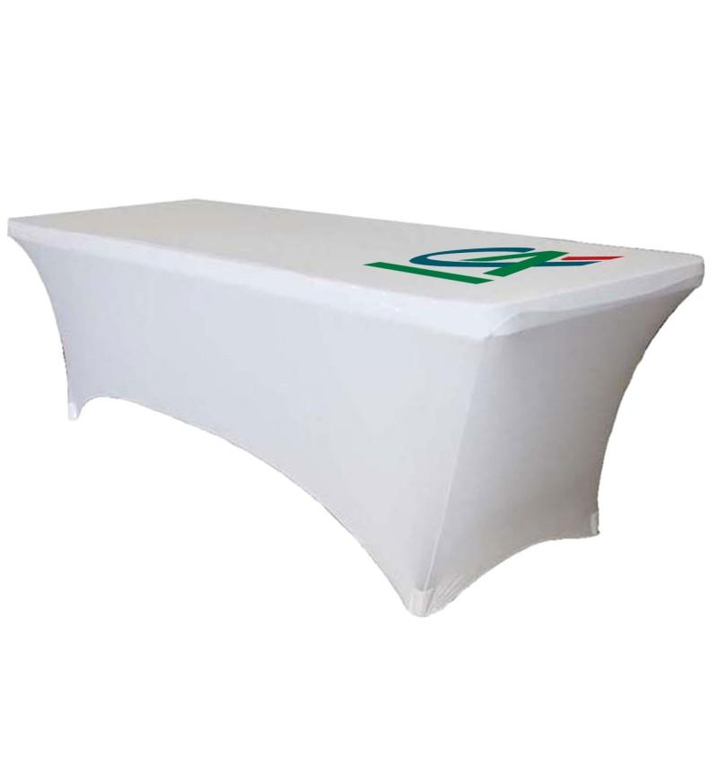 Housse de table avec logo personnalisé