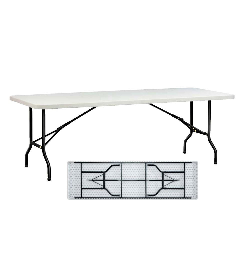 Table Buffet ECO à pieds pliants h95 - 183x80cm