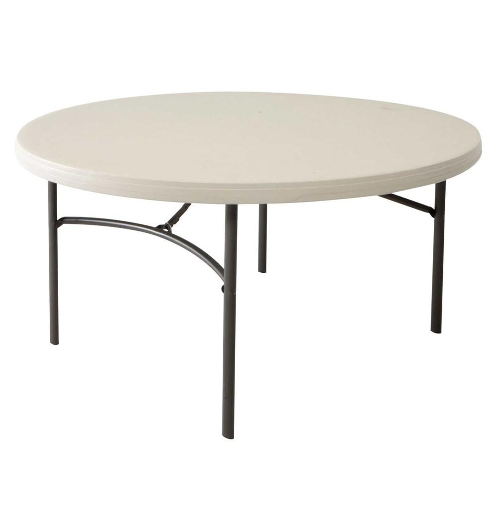 table ronde pieds pliants 180cm
