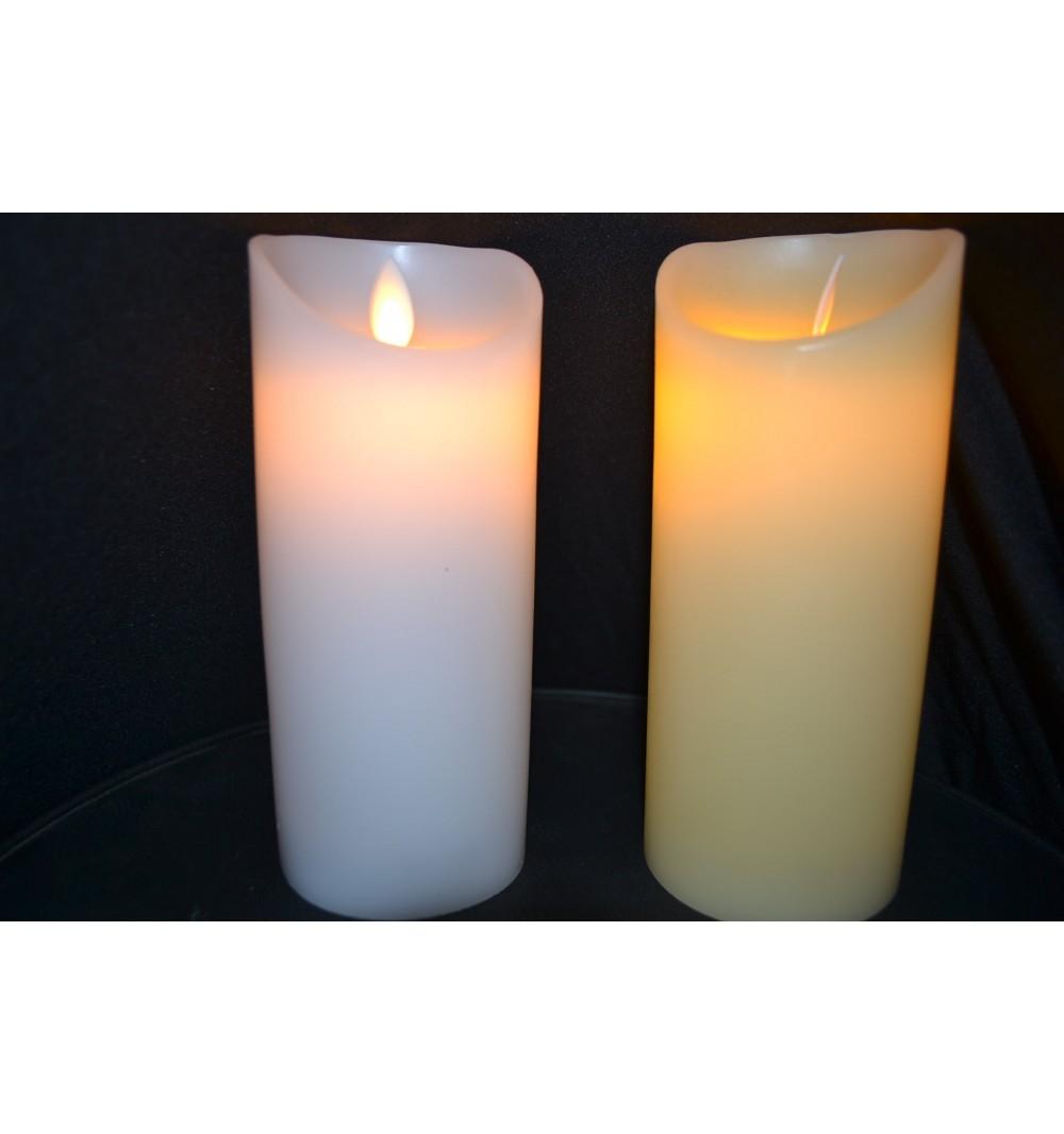Bougies LED Ivoire/Blanche Vagues D7,5*H17