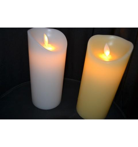 Bougies LED Ivoire Vagues D8*H17.5