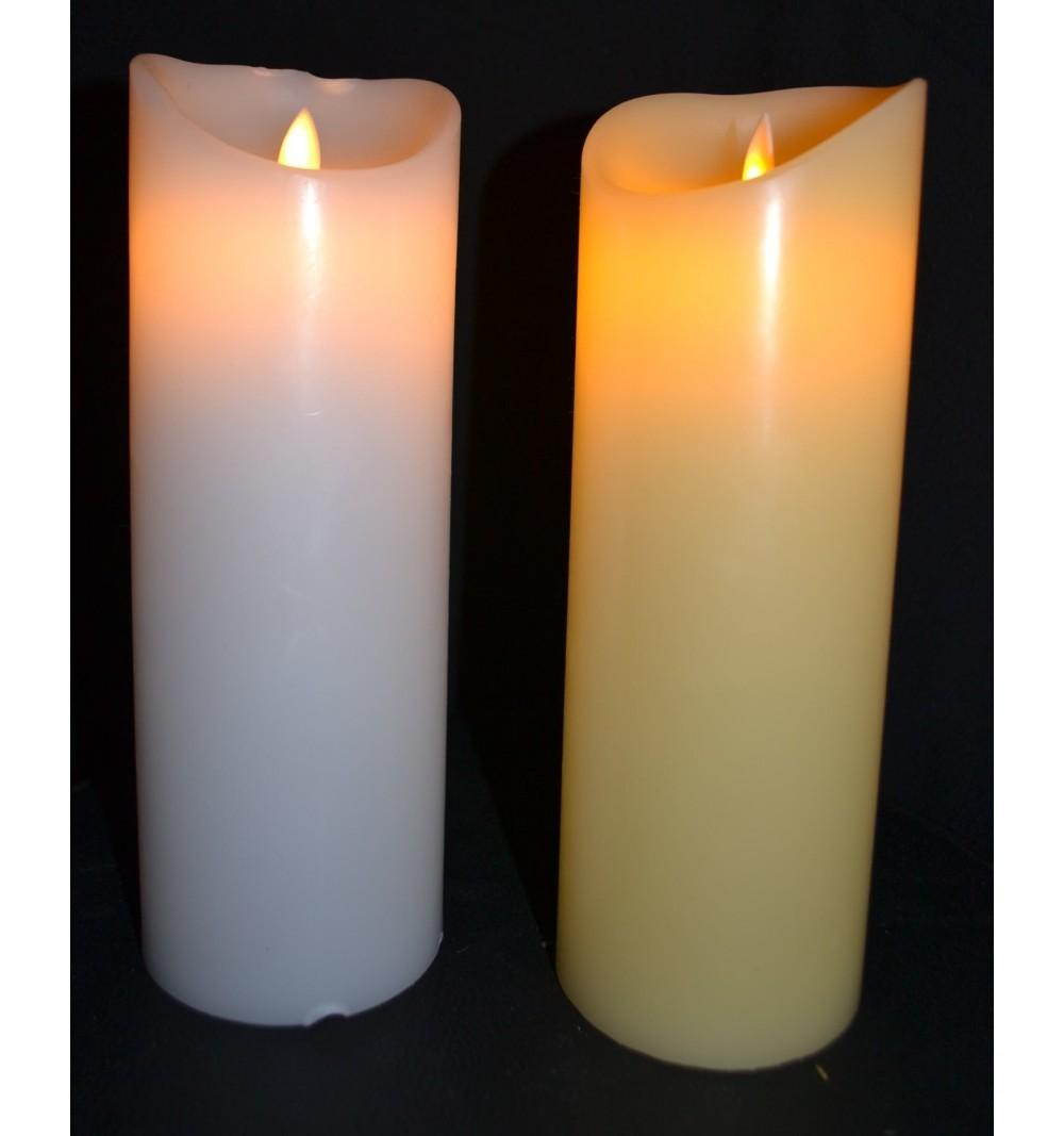 Bougies LED Ivoire/Blanche Vagues D8*H22.5