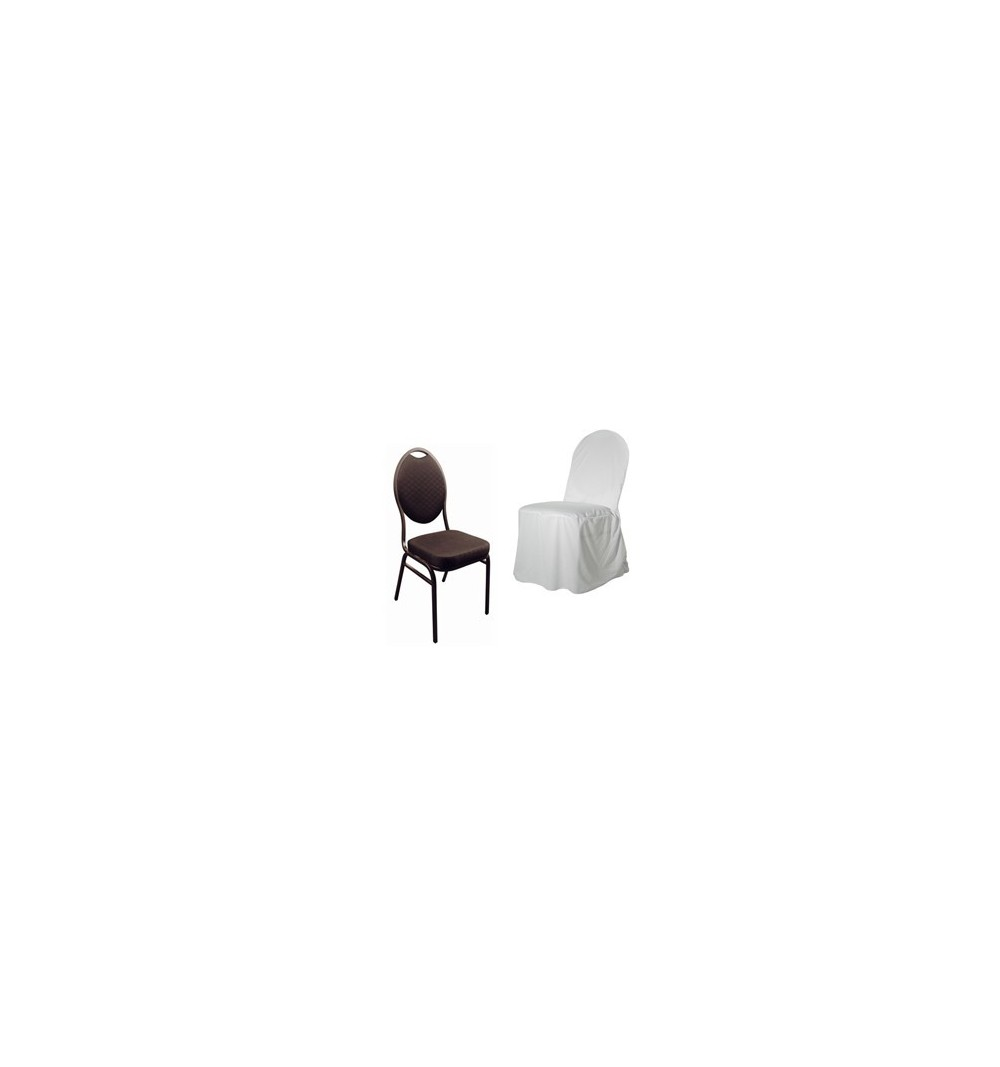 housse de chaises polyester coton pour chaise banquet conf rence. Black Bedroom Furniture Sets. Home Design Ideas
