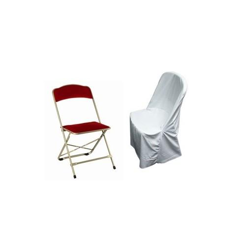 Polyester supérieur chaise pliante