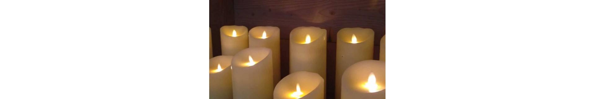 bougies led - vente de bougies led pour mariages