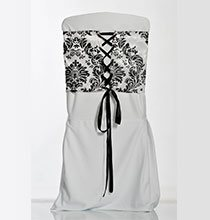 ceinturage corset baroque pour chaise