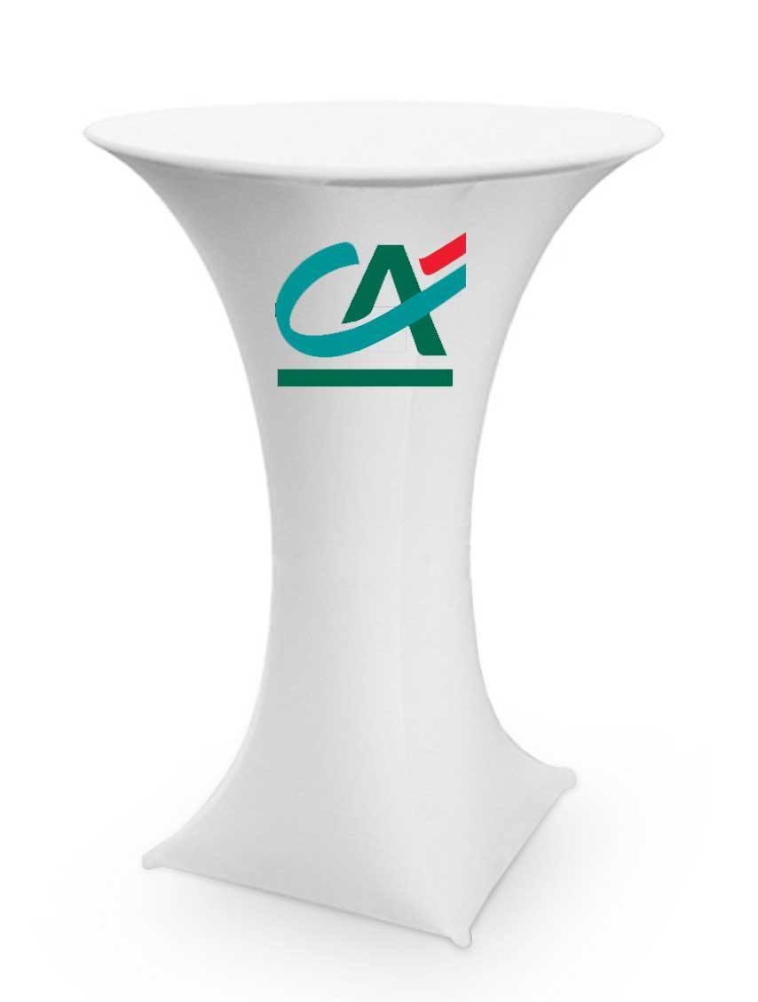 Impression logo haut sur housse de mange-debout