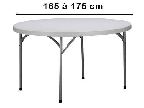 Rond 165 à 175 cm
