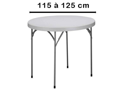 Rond 115 à 125 cm