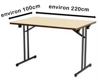 Environ 100x220 cm