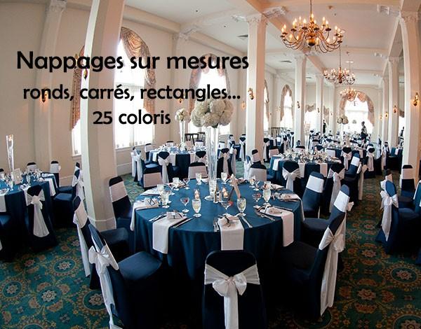 nappes en polyester sur mesures, 25 coloris